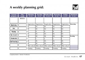 Weekly Planning Grid - Page 67